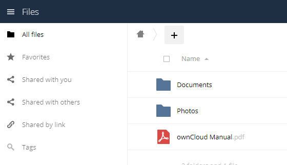 ownCloud Control Panel