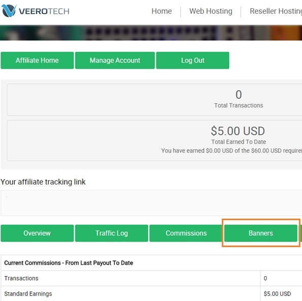 veerotech web hosting affiliate banners