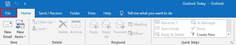 Adding an email account in Outlook.