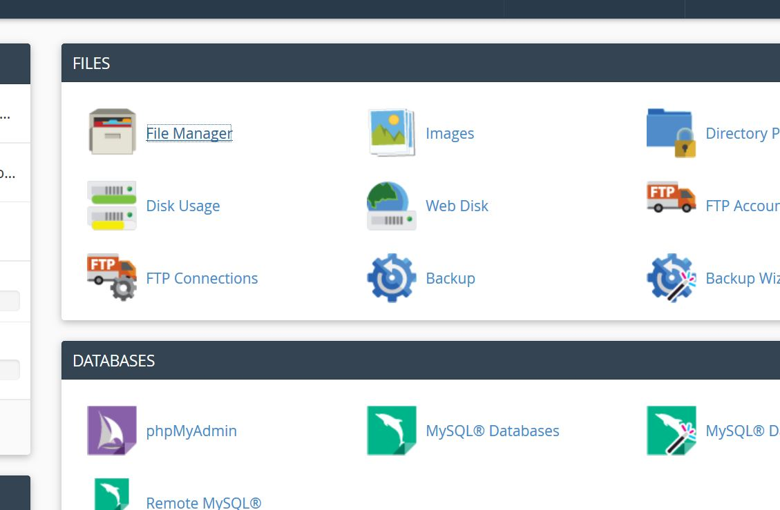 cpanel-file-manager-access