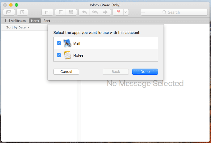 Mac mail setup image #4