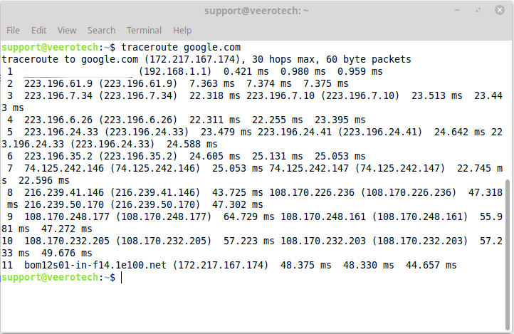 linux-terminal-traceroute