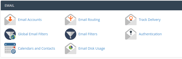 cPanel email panel