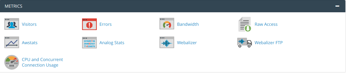 The cPanel Metrics Page.
