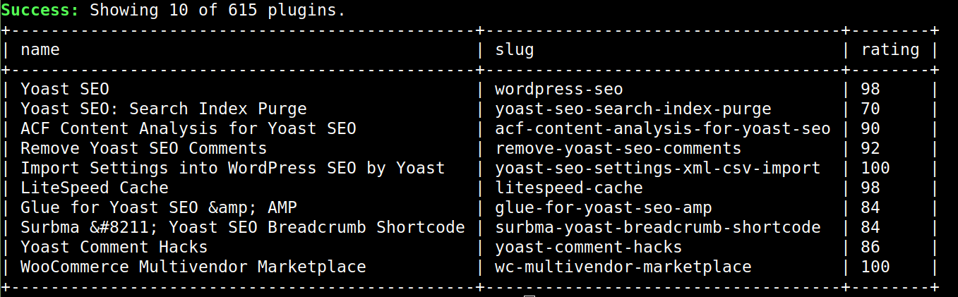 Managing WordPress plugins via the command line.